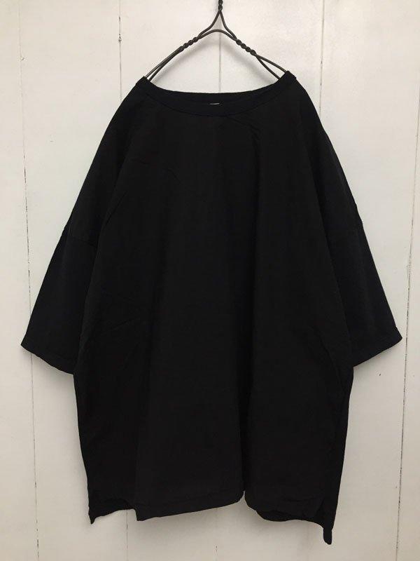 30/1 ハイゲージ天竺 × 80/1 タイプライター 切替Tシャツ