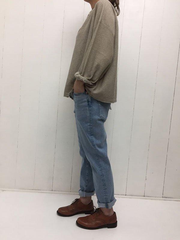リネンツイル ギャザーシャツ