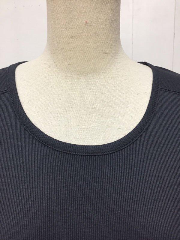 テレコ × 布帛 切替 スリットプルオーバー