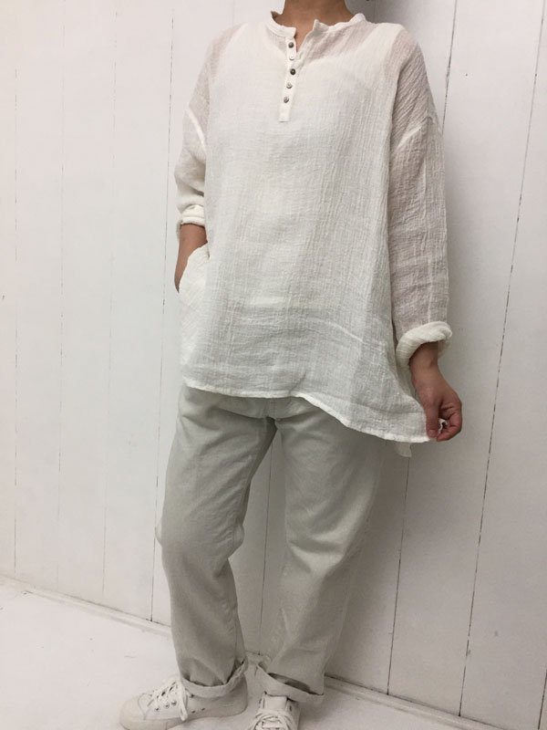 LINEN VOILE PULLOVER
