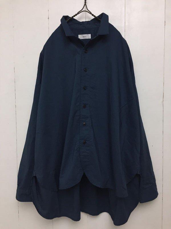 ムラ&コンパクトポプリン レギュラーカラー ワイドシャツ