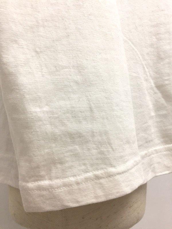 マナプール天竺 ボートネック 刺繍Tシャツ