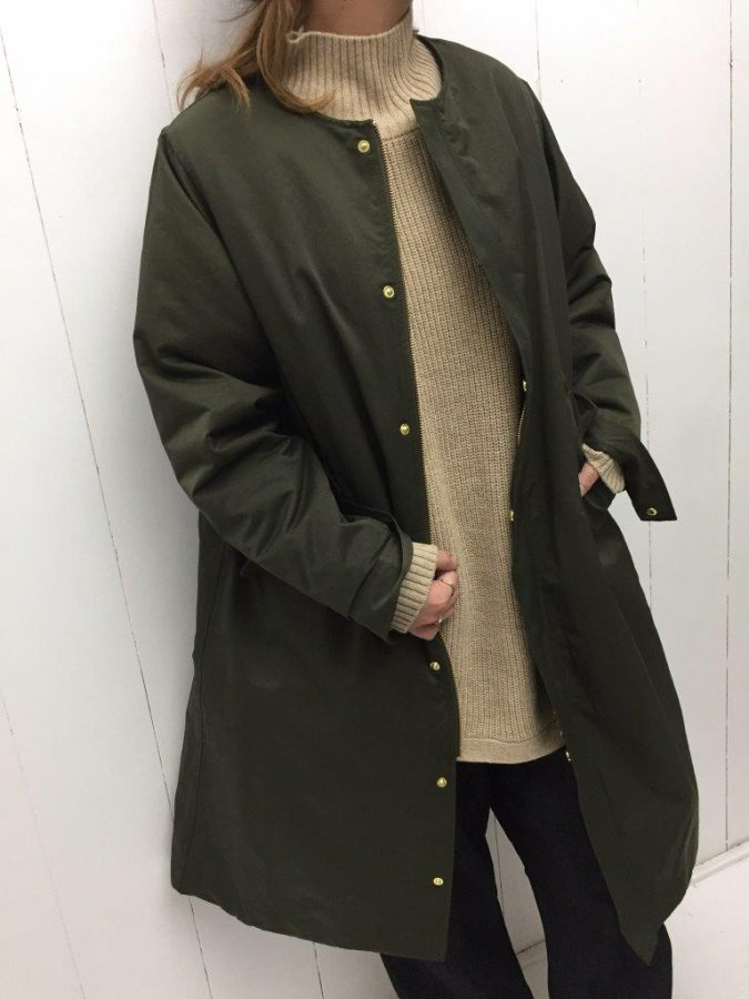 NYLON TWILL long coat