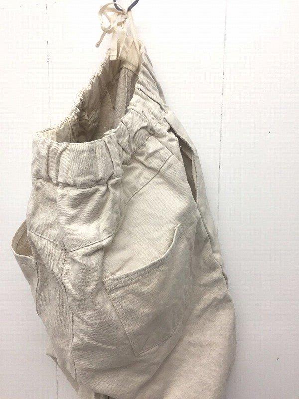 コットンリネンチノ 5ポケット ワイドパンツ