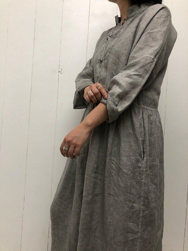LINEN HAND DYE CHINA DRESS
