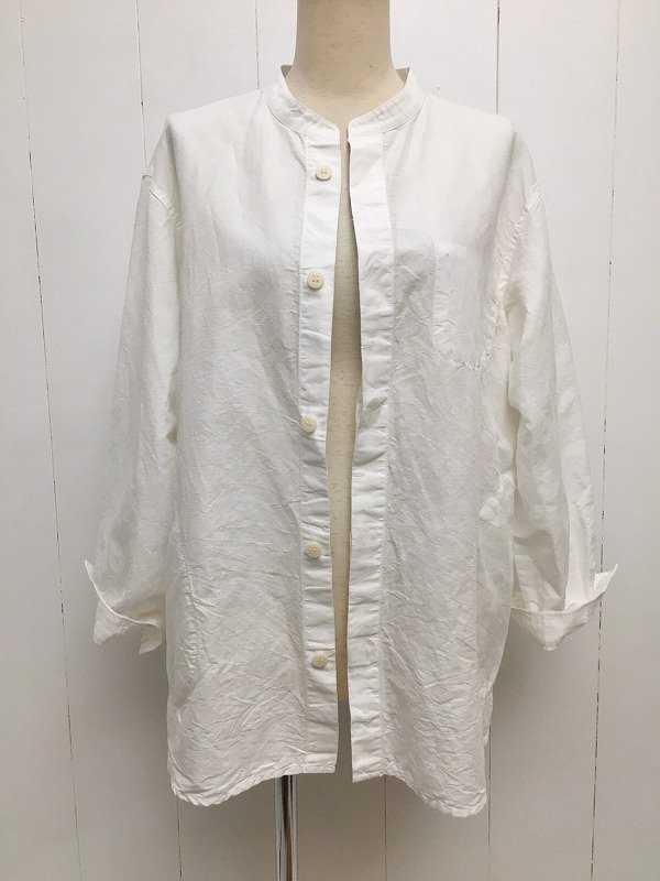 綿麻クロス カバーシャツ