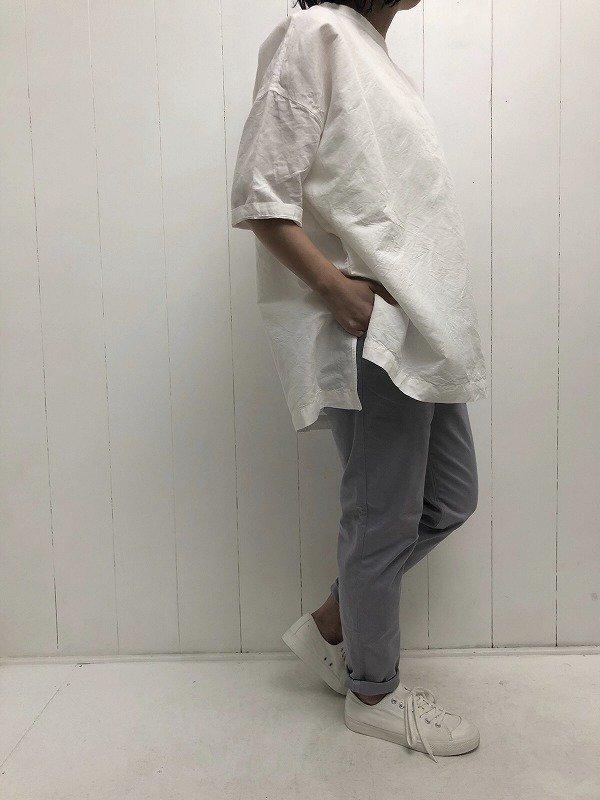 綿麻クロス ビッグプルオーバー