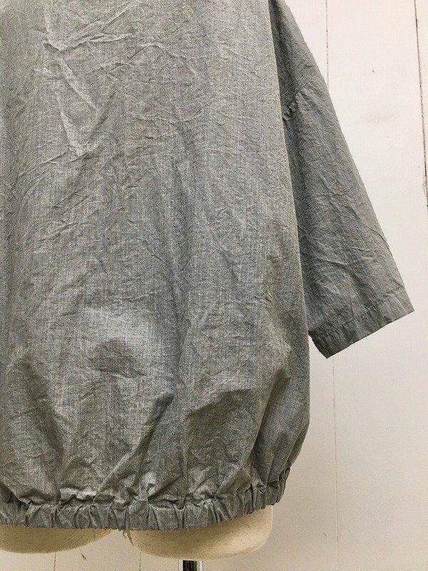 70/1 高密度ニドム加工 7分袖 コクーンシャツ