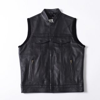 63Leathers Original LVJ(Stand-Up Collar Leather Vest)
