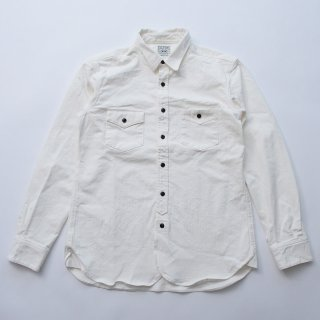 Cycle Works Original white herringbone stretch oxford shirts 2018AW