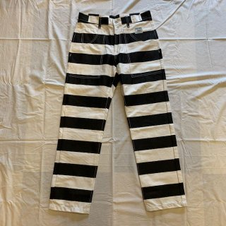 <img class='new_mark_img1' src='//img.shop-pro.jp/img/new/icons1.gif' style='border:none;display:inline;margin:0px;padding:0px;width:auto;' />FST Clothing×Cycle Works Collaborated Prisoner Pants 囚人パンツ/ボーダーパンツ/プリズナー/プリズナーパンツ/White×Black