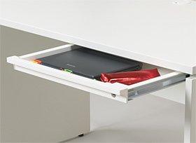 Garage パソコンデスク用 A3サイズトレ-引出し 鍵付き GF−A3TH−K 白 ホワイト