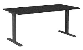Garage パソコンデスク fantoni 頑丈なT字脚 幅160cm 奥行き71cm GT−167H黒
