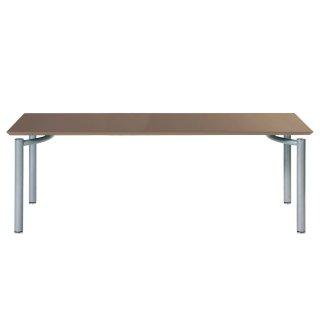 Garage パソコンデスク テーブル fantoni ME 53-1M18 幅180cm 奥行き80cm くるみ/銀