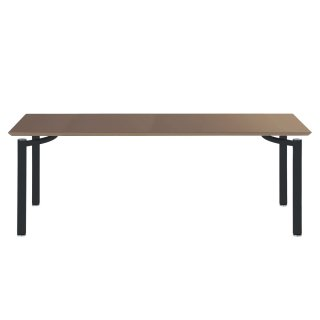 Garage パソコンデスク テーブル fantoni ME 53-1K18 幅180cm 奥行き80cm くるみ/黒脚