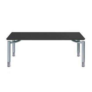 Garage パソコンデスク テーブル fantoni ME 高さ調節タイプ 53-1S56 幅160cm 奥行き80cm 高さ調節62〜82cm 黒