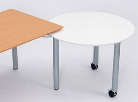 fantoni ME サイドテーブル 53-5M97 白 シルバー脚