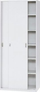 l5210s 635-764 Garage 収納家具 スチール製 システム収納L5 収納庫 引違い保管庫 幅90 奥行45 高さ210cm