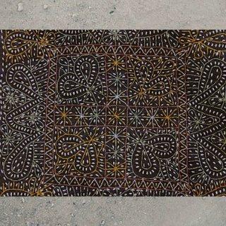 【予約作品】0005 Debariya Rabari Bakhia Cusion Cover デバリヤラバーリーのバキア・ステッチクッションカバー