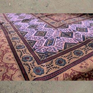 【予約作品】0007 Seven colored Ajrakh Cloth 七色づかいのアジュラック布