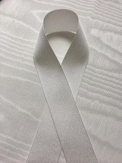 グログランリボン(2.5�幅) ホワイト