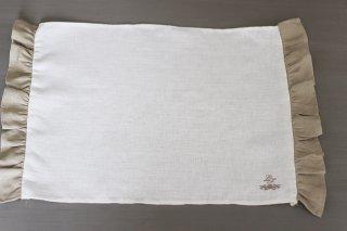 フリルランチョンマット  ホワイト