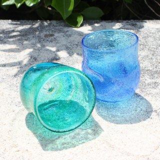 海の色のロックグラス5個ギフトセット
