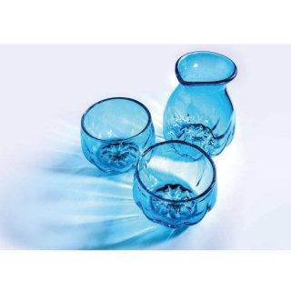 波琉寿トックリグラスセット(Pulse Tokkuri+Glass set) うみいろ