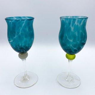 水影ワイングラス(緑)