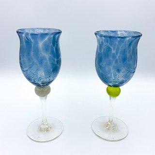 水影ワイングラス(水色)
