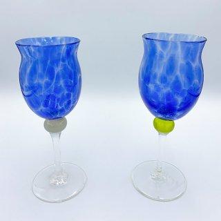 水影ワイングラス(青)