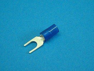 被覆付角先開形端子 APF2-□青色