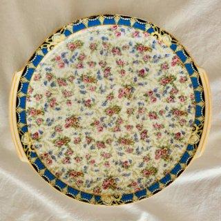 リモージュ焼き バラ柄タルト皿