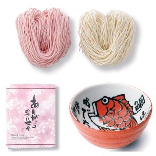 めで鯛どんぶり(赤)手織り紅白らーめん 47-F165 2521