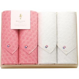 寿々(じゅじゅ)木箱入り紅白タオルセット 60301 0091