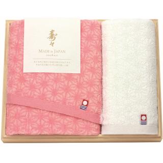 寿々(じゅじゅ)木箱入り紅白タオルセット 60315 4930