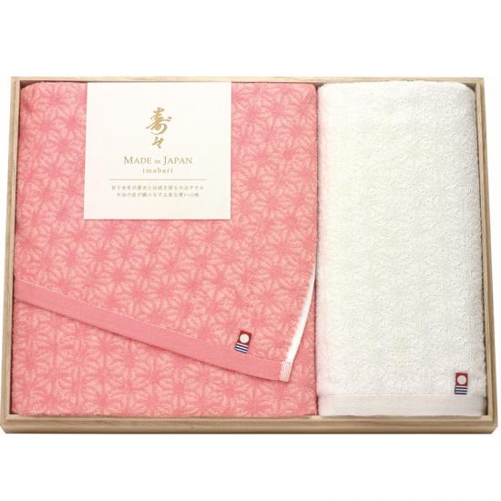 60330寿々(じゅじゅ)木箱入り紅白タオルセット 60330 4930