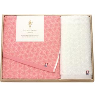 寿々(じゅじゅ)木箱入り紅白タオルセット 60330 0091