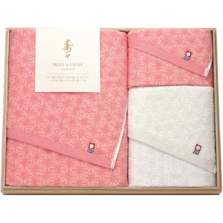 寿々(じゅじゅ)木箱入り紅白タオルセット 60340 0091
