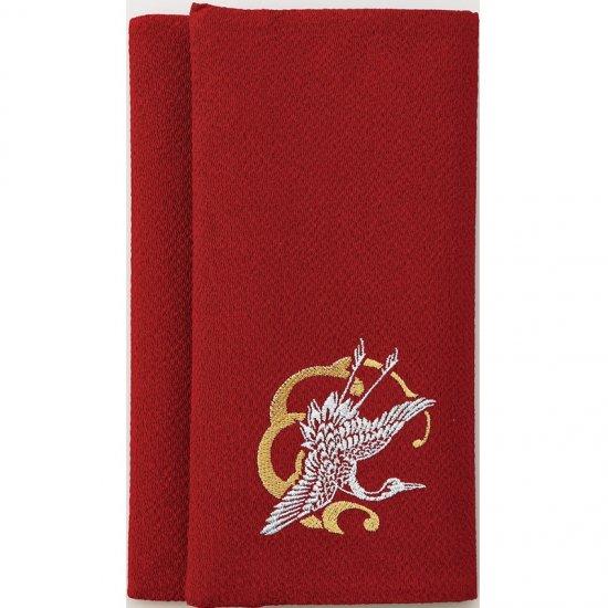 408-200リバーシブル慶弔ふくさ 赤・グレー 408-200 1801
