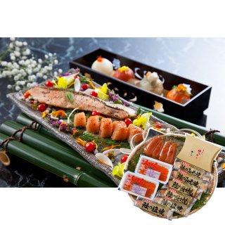 北海道いくら・鮭とやまや明太子 詰合せ 2740-50-4【送料無料】0770