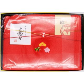 【数量限定】寿々 日本製 大阪泉州 紅白バスタオル(紅)23725 0091