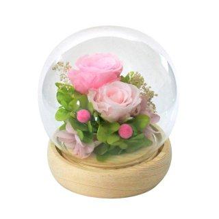 母の日 スフィアガラスドームプリザーブドフラワー ピンク B11820【送料無料】0045