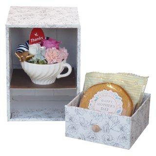母の日 母の日BOX プリザ&バウムセット PB-02N【送料無料】0045