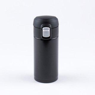 オミット ワンタッチ栓スリムマグボトル200ml ブラック RH-1508 8910