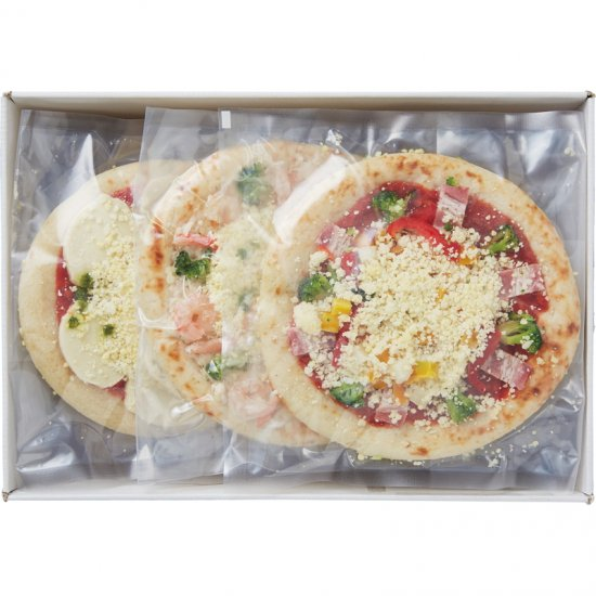 450017【夏ギフト】北海道チーズピザ3枚 450017【送料無料】0122