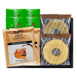 パウンドケーキ&コーヒー・煎茶ティーバッグセットIKO-10 0051