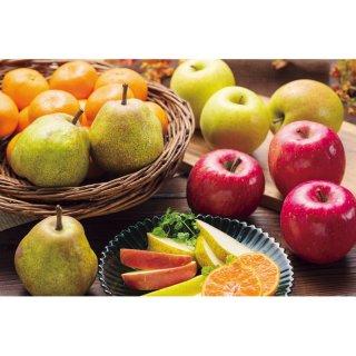 【お歳暮】りんご2種&ラ・フランス&みかん詰合せ BF-2012245【送料無料】0122