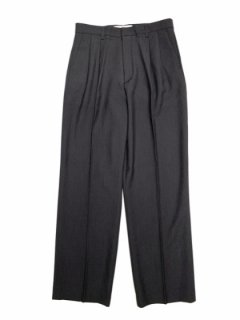 【Wtuck Straight Slacks】