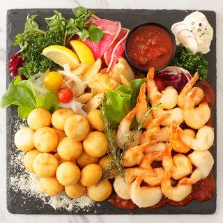 小エビのフリット&チーズフライ〜サルサソース添え〜